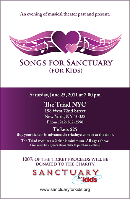 Sanctuary: Songs for Sanctuary for Kids to Serenade Citizens at Charity Fund Raiser in New York!