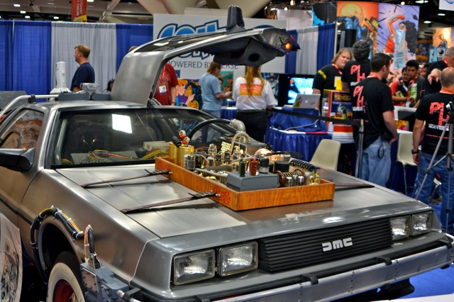 Back to the Future DeLorean at San Diego Comic-Con 2011 Helps Fight Parkinson's Disease!
