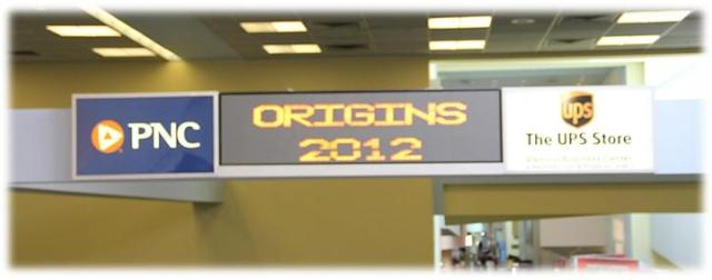 Origns Game Expo 2012 - Entrance Banner
