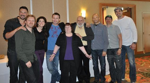 Stargate Vancouver 2012 - Stargate celebrities with ArcticGoddess1 in the vendors room