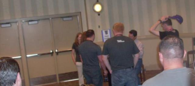 BotCon 2012 - Fans mingle as the convention ends