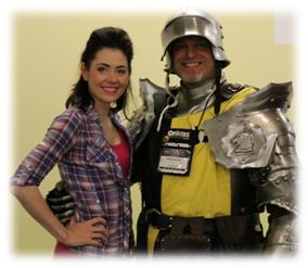 Origins Game Fair 2012 - Adrienne Wilkinson with my cosplay hubby