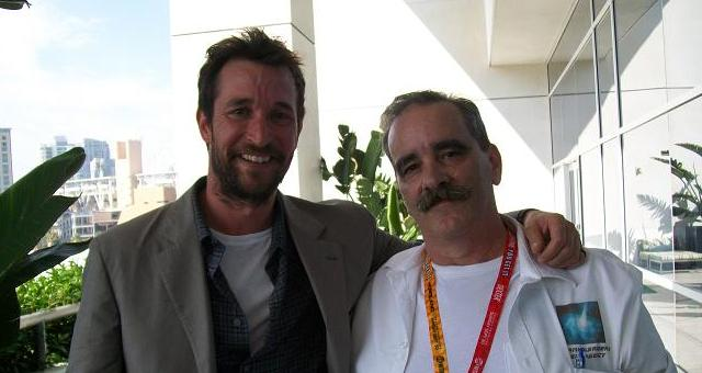 SDCC  2012 Falling Skies Noah Wyle and Kenn after press room
