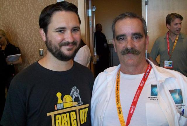 SDCC 2012 Falling Skies Press - Wil Wheaton and Kenn