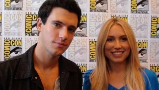 SDCC 2012 Falling Skies Press - Drew Roy and Sarah Sanguin Carter