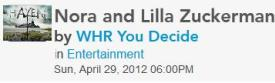 0989 You Decide Live Radio Show with Nora and Lilla Zuckerman