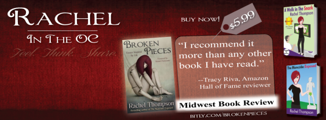 Rachel Thompson Number One Best Seller has Broken Pieces that Come Out More than Whole in the End!
