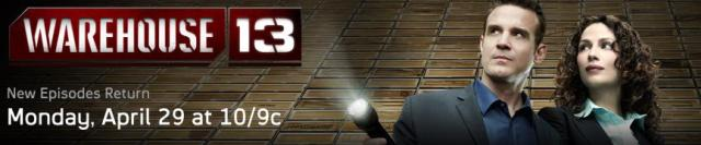 Warehouse 13 banner logo season 4.5 - Click to learn more at Syfy!