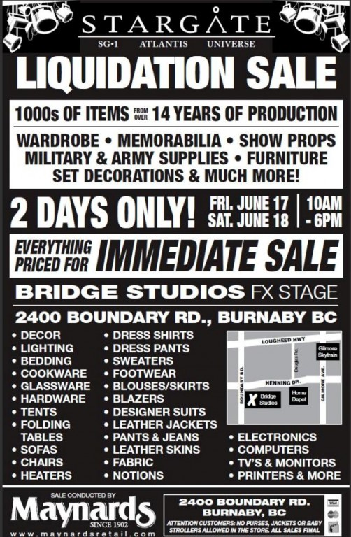 Click to learn more about Stargate Liquidation June17-18-2011