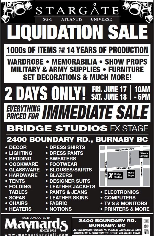 Stargate Liquidation: WormholeRiders to Witness End of Era in British Columbia!