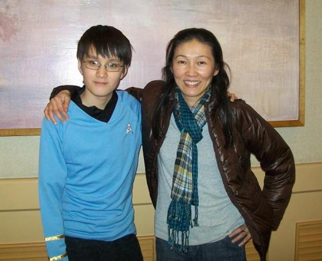 Creation Star Trek San Francisco - Mother and son came from Boston!