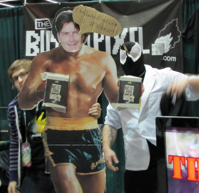 Emerald City ComicCon 2011 -Charlie Sheen busted but winning