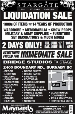 Click to learn about Stargate Auction June 17-18-2011