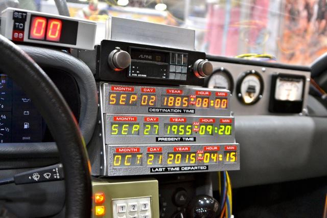 Back to the Future DeLorean SDCC- console