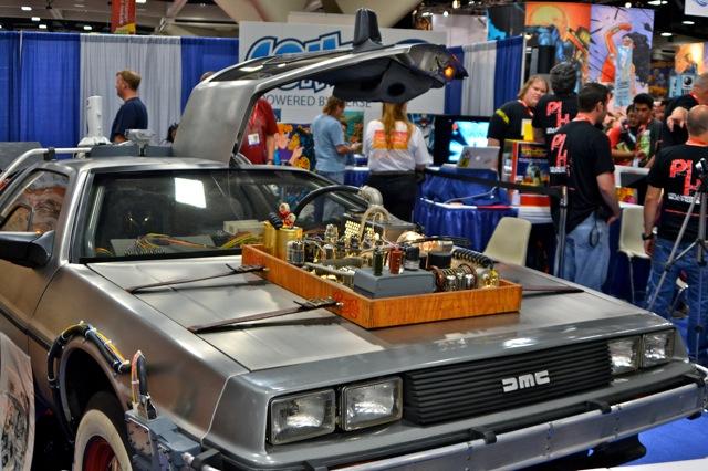 Back to the Future DeLorean SDCC- time machine