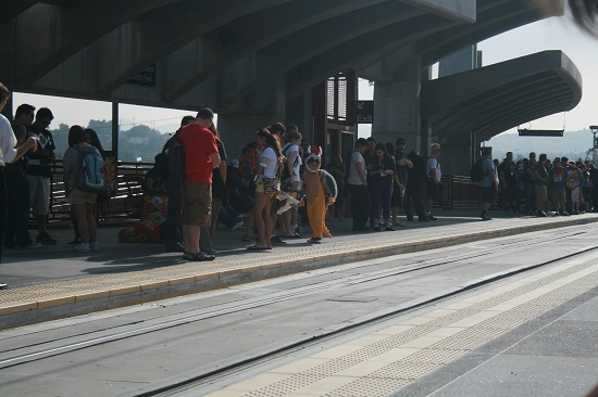 Comic-Con 2011 - Trolley Station with a Mini Bowser!