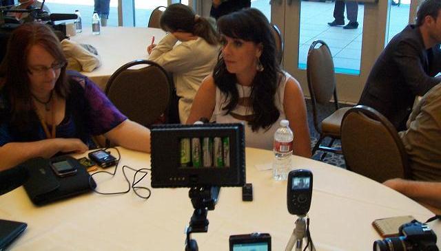 Comic-Con 2011 Sanctuary Press - Amanda Tapping