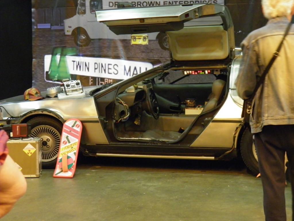 London Film and Comic Convention - BTTF DeLorean