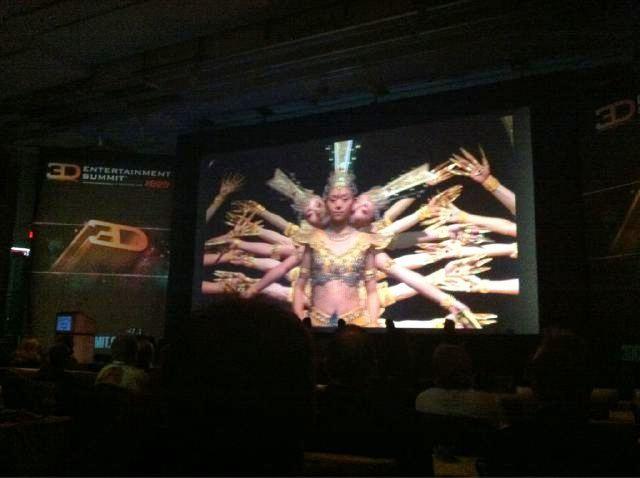 3D Entertainment Summit - on screen