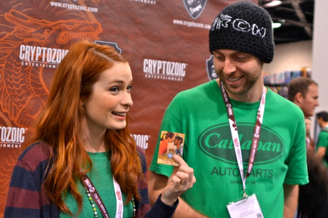 Sandeep and Felicia with The Guild trading cards!