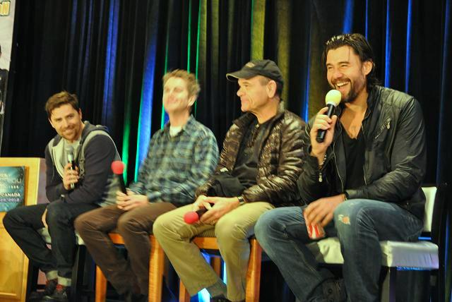 Stargate Vancouver 2012 - Kavan Smith, Chuck Campbell, Robert Picardo and Steve Bacic