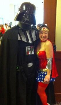 Calgary Expo - Darth Vader and Wonder Woamn Cosplay