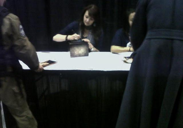 Calgary Expo 2012 - Amanda Tapping at autograph table