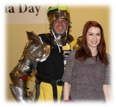 Origins Game Fair 2012 - Felicia Day and my cosplay hubby
