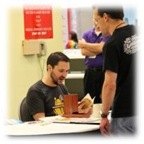 Origins Game Fair 2012 - Wil Wheaton signing autographs
