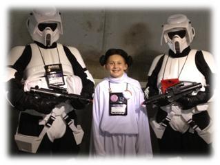 Origins Game Fair 2012 - Princess Leia and Storm Troopers