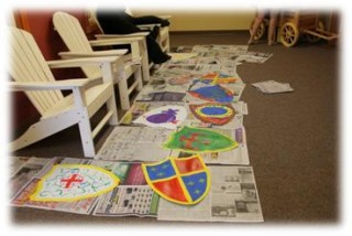 Reading Renaissance Festival -New Empire shield making