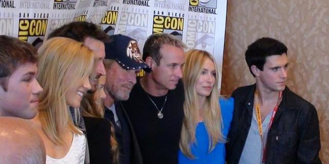 SDCC 2012 Falling Skies Press - Cast members