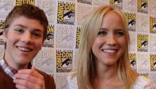 SDCC 2012 Falling Skies Press - Connor Jessup and Jessy Schram