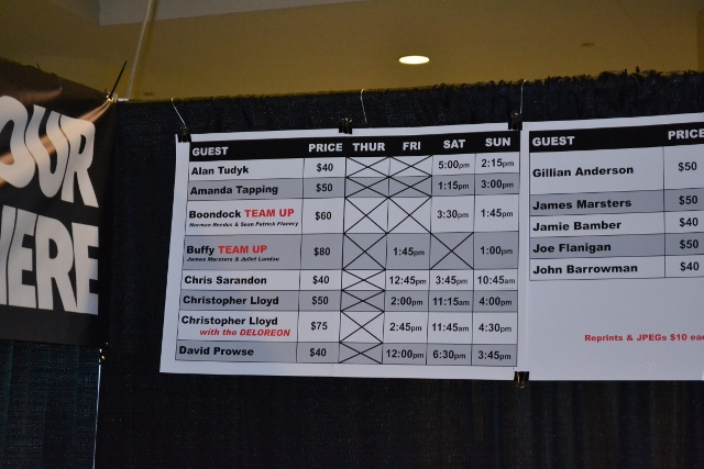 Fan Expo Toronto 2012 - Schedule and costs for celebrity autographs