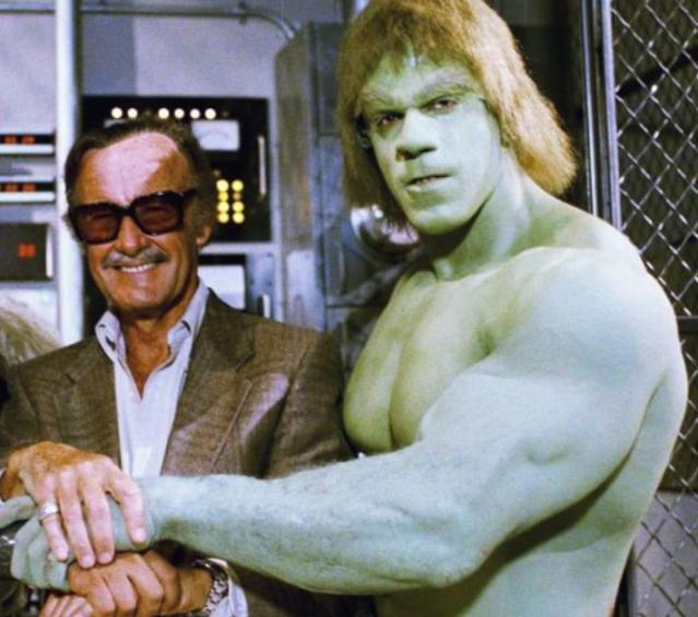 Stan Lee and Lou Ferrigno