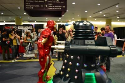 Toronto Fan Expo - Iron Man versus a Dalek