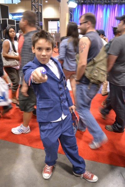 Toronto Fan Expo - Mini-Doctor Who in Tenth Doctor outfit