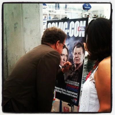 SDCC 2012 Fringe - John Noble signs poster