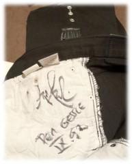 Roxette NYC 2012 - Contest prize autographed Per Gessle Pants