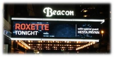 Roxette NYC 2012 - Beacon Theatre Entrance Marque