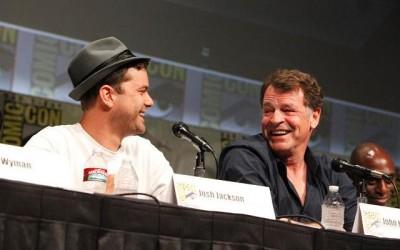 SDCC 2012 - Josh Jackson and John Noble share a laugh