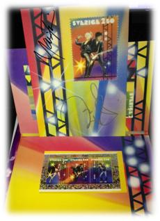 Roxette NYC 2012 - Roxette stamp set collectors item
