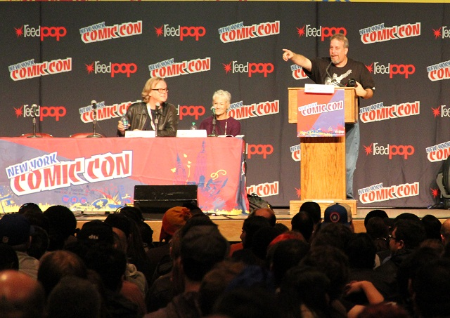 NYCC 2012 - Batman Panel; L-R Bruce Timm, Andrea Romano, and Gary Miereanu