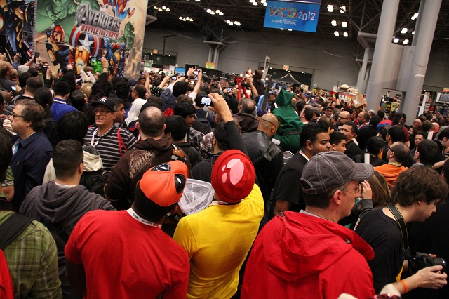 NYCC 2012 - Crowd Around Stan Lee