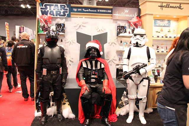 NYCC 2012 - Darth Santa with Imperial Gunner and Stormtrooper at Hallmark Booth