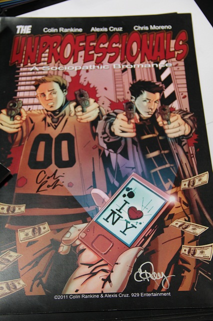 NYCC 2012 - Unprofessionals Cover Art
