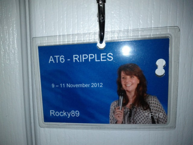 AT6 Ripples - Lanyard and event badge
