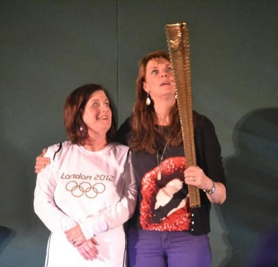AT6 Ripples - Julia Hague passes Olympic Torch to Amanda Tapping!