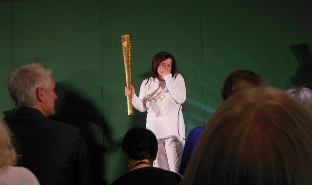 AT6 Ripples - Julia Hague holds the 2012 Olympic Torch