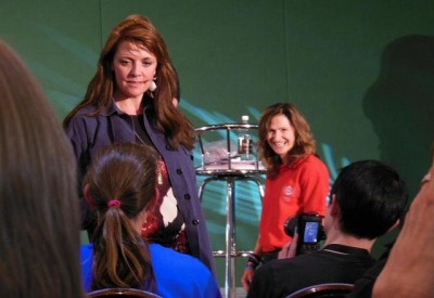AT6 Ripples - GABIT staff attends to questions for Amanda Tapping